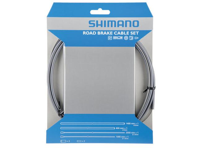 Shimano Road SIL-TEC Bremszug-Satz VR/HR grau